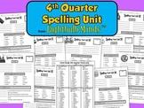 4th Quarter Spelling Unit from Lightbulb Minds