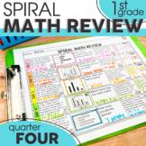 4th Quarter Spiral Math Review | 1st Grade Morning Work | Homework