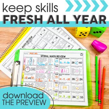 4th Quarter Spiral Math Review   1st Grade Morning Work   Homework