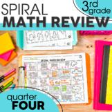 4th Quarter Spiral Math Review | 3rd Grade Morning Work | Homework