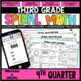 4th Quarter Spiral Math Review | 3rd Grade Morning Work |