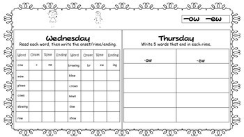 4th Quarter - Word Work Homework - 1st Grade