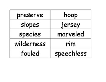 4th Reading Street High Frequency Word List