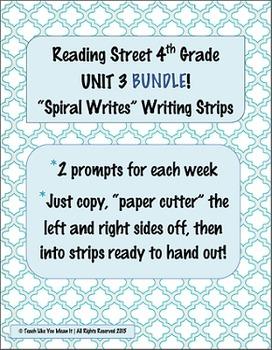 4th Grade Reading Street- UNIT 3 'SPIRAL WRITES' BUNDLE