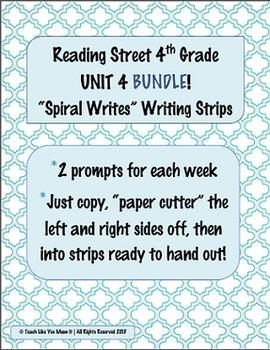 4th Grade Reading Street- UNIT 4 'SPIRAL WRITES' BUNDLE