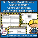 4th STAAR MATH Review Question Under Construction from Lead4ward Fixer Upper