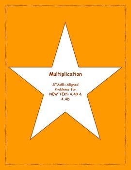 4th STAAR Multiplication New TEKS 4.4B & 4.4D