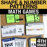 4th - Shape & Number Patterns Centers - Math Games