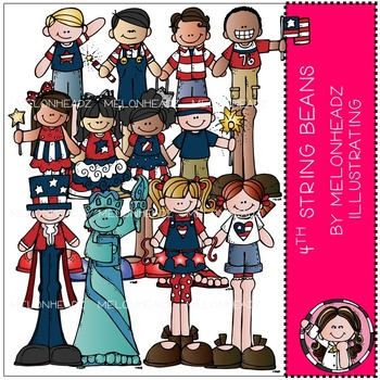 July 4th  ( Independence Day ) clip art - String Beans - Melonheadz Illustrating