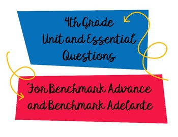 4th Unit and Essential Question Benchmark Advanced/Adelante