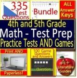 4th and 5th Grade Math Test Prep Practice BUNDLE! Smarter Balanced, PARCC CAASPP