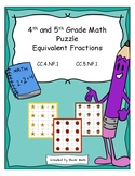 4th and 5th Grade Math Puzzles - Equivalent Fractions