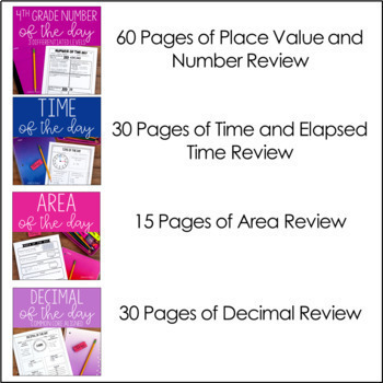 4th and 5th Grade Math Review | Of the Day Bundle