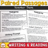 Thanksgiving Passages- FSA Writing - November Passages and prompts
