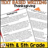 Thanksgiving Passages FSA Text Based Writing | November Pa