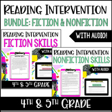 4th and 5th Grade Reading Intervention for Struggling Readers BUNDLE