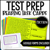 4th and 5th Grade Reading Test Prep Task Cards | Fiction Reading Review