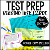 4th and 5th Grade Reading Test Prep Task Cards | Nonfictio