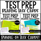 4th and 5th Grade Reading Test Prep Task Cards | Nonfiction and Fiction BUNDLE
