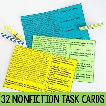 Reading Test Prep Task Cards   Includes Google Forms™ for Distance Learning