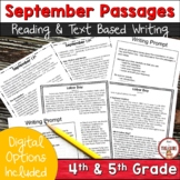 FSA Writing - September 11 and Labor Day