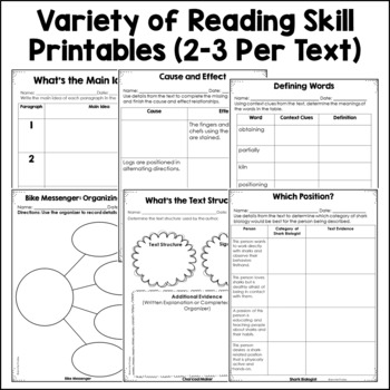 4th and 5th Grade Small Group Reading Activities : Nonfiction Set 1