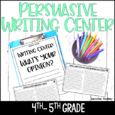 4th and 5th Grade Writing Center - Persuasive Writing