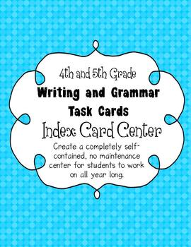 4th and 5th Grade Writing and Grammar Task Card Center Kit