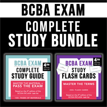 Complete Study Bundle | Study Guide + Flash Cards for the 4th ed. | BCBA/BCaBA