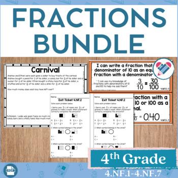 Fractions Bundle 4th Grade