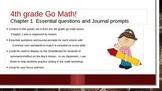 4th gr Go Math!  Ch. 1  Essential questions and Journal prompts