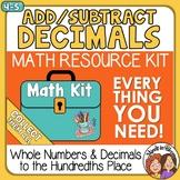 4th grade Adding & Subtracting Decimals & Whole Numbers Di
