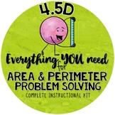 4th grade Area and Perimeter Problem Solving TEKS 4.5D