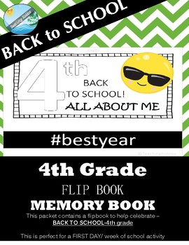 4th grade BACK TO SCHOOL activity - First DAY