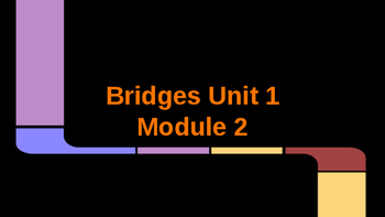 4th grade Bridges Unit 1 Module 2 objectives and vocabulary