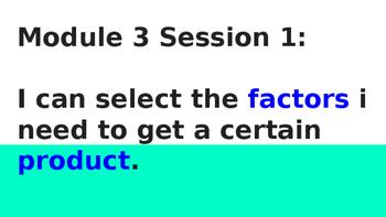 4th grade Bridges Unit 1 Modules 3-4 objectives and vocabulary