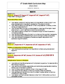 4th grade Common Core Math CURRICULUM MAP