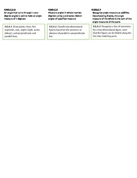 4th grade Common Core Math Labels for Avery 5160