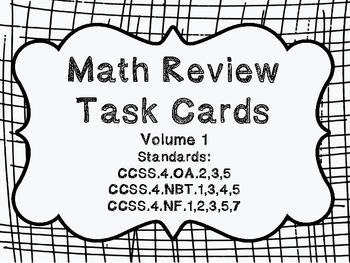 4th grade Common Core Math Review Set 1