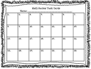 4th grade Common Core Math Review Set 2