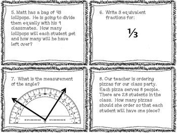 4th grade Common Core Math Review Set 3