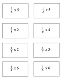 4th grade COMMON CORE Math 4.NF.4a Fraction Multiplication Flash Cards