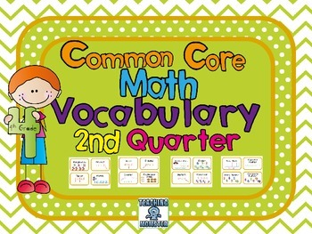 4th grade Common Core Vocabulary Cards, Quarter 2