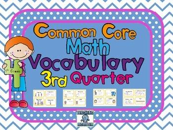 4th grade Common Core Vocabulary Cards, Quarter 3