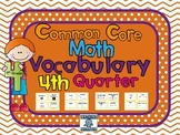 4th grade Common Core Vocabulary Cards, Quarter 4