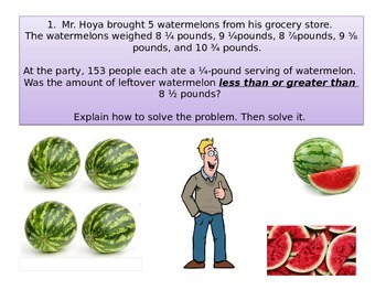 """4th grade Math Critical Area 2 :Party Time"""" Performance task"""