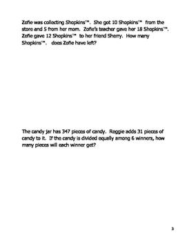 4th grade Cumulative Math Review Journal FREE