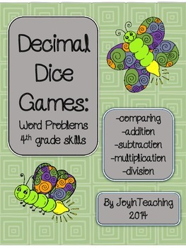 4th grade  Decimal Word Problems-comparing/ place value/ addition/ subtraction