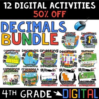 4th grade Decimals Digital Activities BUNDLE