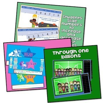 4th grade Digital Place Value with Whole Numbers & Decimals BUNDLE